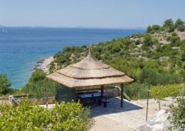 Maison de pêcheur Fanica 2 + 2 avec vue sur la mer, baie de Podjasenovac, île de Murter