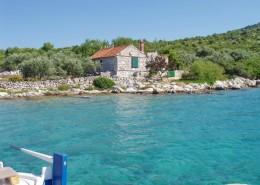 Rybářský dům Bare 4 + 2, záliv Saruščica, ostrov Žut