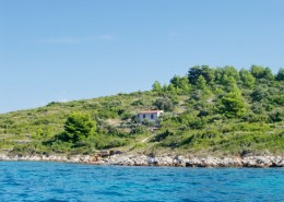 Rybářský dům Miro 2 + 2 na samotě, ostrov Brušnjak