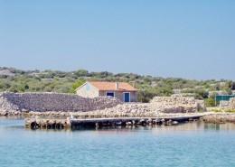 Maison de pêcheurs avec jardin 4 + 2, île de Radelj