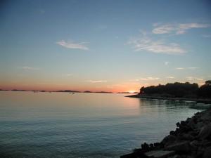 Západ slunce nad ostrovy Kornati