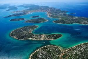 L'île de Murter avec les îles voisines