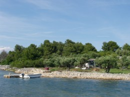 fishermen house agata-port with little boat